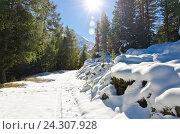 Снег в горах. Стоковое фото, фотограф Добыш Александр / Фотобанк Лори