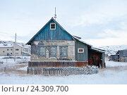 Купить «Старый заброшенный дом в Териберке. Кольский полуостров», фото № 24309700, снято 5 ноября 2016 г. (c) Victoria Demidova / Фотобанк Лори