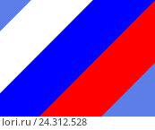 Флаг России на голубом фоне. Стоковая иллюстрация, иллюстратор Владимир Сорокин / Фотобанк Лори