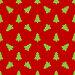 Шаблон для оберточной бумаги. Зеленые елки на красном фоне, иллюстрация № 24316552 (c) Elena Titova / Фотобанк Лори