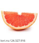 Ггрейпфрут на белом фоне. Стоковое фото, фотограф Воронина Светлана / Фотобанк Лори