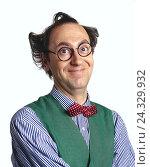Купить «Man, glasses, mop hair, facial play, portrait, mb 114 A3», фото № 24329932, снято 14 декабря 2001 г. (c) mauritius images / Фотобанк Лори