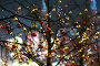 Новогоднее украшение деревьев на Красной площади, у ГУМа. Москва, эксклюзивное фото № 24335424, снято 2 декабря 2016 г. (c) Андрей Дегтярёв / Фотобанк Лори