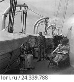 Купить «Passagiere an Bord eines Schiffes auf der Linie Memel Königsberg auf der Ostsee in Ostpreußen, Deutschland 1930er Jahre. Passengers on a ship voyaging...», фото № 24339788, снято 27 мая 2018 г. (c) mauritius images / Фотобанк Лори
