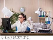 Купить «Businesswoman working in the office», фото № 24374212, снято 10 июня 2016 г. (c) Elnur / Фотобанк Лори