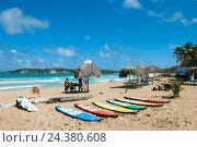 Купить «The Dominican Republic, the east, Punta Cana, Macao, beach of Macao», фото № 24380608, снято 16 августа 2018 г. (c) mauritius images / Фотобанк Лори