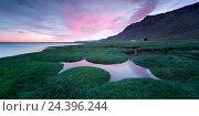 Купить «Iceland, VestfirIr, west fjords, Atlantic,», фото № 24396244, снято 28 мая 2018 г. (c) mauritius images / Фотобанк Лори