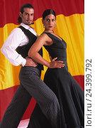 Купить «Spain, folklore, couple, flamenco, dance man, woman, compensating roller, dance couple, nationality, flag, Andalusia, dance song, dance, popular, tradition...», фото № 24399792, снято 17 июля 2018 г. (c) mauritius images / Фотобанк Лори