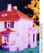 Купить «Single-family dwelling, alienation, duplicates = in spite yellow figure font Dups!», фото № 24410572, снято 31 декабря 1899 г. (c) mauritius images / Фотобанк Лори