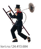 Купить «Woman, lining, chimney sweep, laugh, conductor, broom, motion concepts, chimney sweep, female, occupation, care, cylinder, luck bringer, icon, studio, cut out,», фото № 24413684, снято 15 февраля 2006 г. (c) mauritius images / Фотобанк Лори