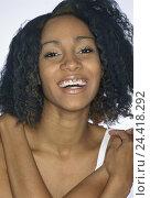 Купить «Woman, young, dark-skinned, upper lip, Piercing, laugh, portrait, model released, Lippenpiercing, body jewellery, jewellery, trend, fashion, happy, joy...», фото № 24418292, снято 10 сентября 2002 г. (c) mauritius images / Фотобанк Лори