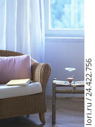 Купить «Living space, detail, sofa, table, odour lamp, side table, aromatic lamp, room climate, odour, book, aromatic therapy, recreation, taking it easy, couch, rattan couch, interior arrangement», фото № 24422756, снято 17 апреля 2002 г. (c) mauritius images / Фотобанк Лори