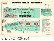Купить «Плакат: Ил-76. Правый пульт летчиков», иллюстрация № 24426960 (c) Артем Сеттаров / Фотобанк Лори