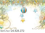 Купить «Новогодний фон», иллюстрация № 24428272 (c) Елисеева Екатерина / Фотобанк Лори