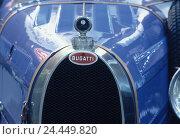 Купить «Old-timer, Bugatti, detail, bonnet, vehicle, car, passenger car, radiator bonnet, radiator, radiator grille, nostalgia, nostalgically, means transportation, front view, close up», фото № 24449820, снято 22 мая 2002 г. (c) mauritius images / Фотобанк Лори