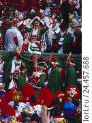 Купить «Germany, Cologne, carnival, honourary guard, dance couple, Rose Monday train, carnival, guard, costumes, lining, celebrate, dance, spectator», фото № 24457688, снято 19 августа 2018 г. (c) mauritius images / Фотобанк Лори