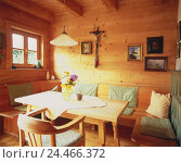 Купить «Residential room, detail, room, farmhouse parlour, cuisine, living space, dining area, corner seat, dining table, wooden piece furniture, St. furniture...», фото № 24466372, снято 23 ноября 2005 г. (c) mauritius images / Фотобанк Лори