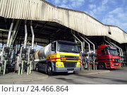 Купить «Germany, Hessen, home Flörs, shell-great tank farm, Lkw's, filling attachment, Europe, economy, industry, great tank farm, tank farm, temporary storage...», фото № 24466864, снято 12 января 2006 г. (c) mauritius images / Фотобанк Лори