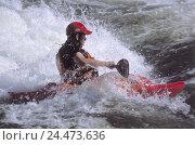 Купить «Torrent, man, Kajak-Rafting, side view, no model release! Sport, sport, water sport, water sport, Rafting, kayak, canoeing, hobby, sportily, leisure time...», фото № 24473636, снято 7 декабря 2004 г. (c) mauritius images / Фотобанк Лори