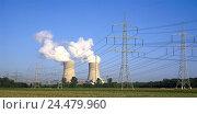 Купить «Germany, Bavaria, Lower Franconia, field Grafenrhein, nuclear power plant, cooling towers, power supply lines, energy, power production, current, current...», фото № 24479960, снято 19 мая 2005 г. (c) mauritius images / Фотобанк Лори