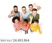 international group of happy people showing ok. Стоковое фото, фотограф Syda Productions / Фотобанк Лори