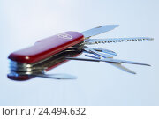 Купить «Penknife, red, opened out, knife, opened, tools, multifunction, practically, multifunctionally, choice, variety, functions, various, possibilities, universal...», фото № 24494632, снято 30 декабря 2004 г. (c) mauritius images / Фотобанк Лори