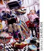 Купить «Festival, driving businesses, children, detail,,  Fuzziness  Kirmes, racket place, racket, party, showmen, carousel, chain carousel, child carousel, trip...», фото № 24495404, снято 19 января 2018 г. (c) mauritius images / Фотобанк Лори