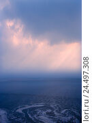 Купить «France, Normandy, Manche, Mont Saint-Michel, sea, flood, afterglow,», фото № 24497308, снято 18 июля 2018 г. (c) mauritius images / Фотобанк Лори
