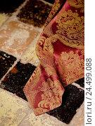 Купить «Brocade substance, tiled floor, close up,», фото № 24499088, снято 14 мая 2009 г. (c) mauritius images / Фотобанк Лори