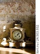 Купить «Clock, nostalgically, dial, close up,», фото № 24503932, снято 14 мая 2009 г. (c) mauritius images / Фотобанк Лори