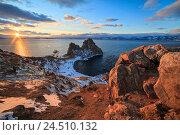 Купить «Закат солнца на острове Ольхон», фото № 24510132, снято 4 декабря 2015 г. (c) Байбородин Михаил / Фотобанк Лори