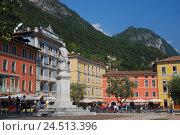 Купить «Italy, Trentino, Gardasee, north shore, Riva del Garda, Piazza 3 Novembre, statue Holy Nepomuk,», фото № 24513396, снято 9 декабря 2009 г. (c) mauritius images / Фотобанк Лори