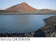 Купить «Spain, Canary islands, Lanzarote, Montana Bermeja, lake,», фото № 24514616, снято 2 февраля 2010 г. (c) mauritius images / Фотобанк Лори