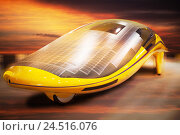 Купить «Electric vehicle with solar collectors, futuristic,», фото № 24516076, снято 17 ноября 2018 г. (c) mauritius images / Фотобанк Лори