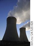Купить «Germany, Bavaria, Lower Franconia, field Grafenrhein, nuclear power plant,», фото № 24520428, снято 26 декабря 2008 г. (c) mauritius images / Фотобанк Лори