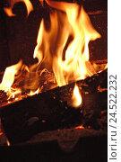 Купить «open chimney, flames,», фото № 24522232, снято 15 февраля 2008 г. (c) mauritius images / Фотобанк Лори