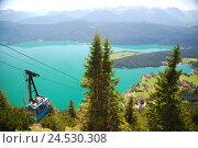 Купить «Germany, Upper Bavaria, Walchensee, duke's state, cable car, overview,», фото № 24530308, снято 23 июля 2018 г. (c) mauritius images / Фотобанк Лори
