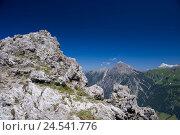 Купить «Principality Liechtenstein, Vaduz, Malbun, princess's Gina way, Rätikon, rock, detail,», фото № 24541776, снято 2 сентября 2008 г. (c) mauritius images / Фотобанк Лори