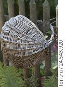 Купить «Old Basket with paling,», фото № 24543920, снято 26 сентября 2018 г. (c) mauritius images / Фотобанк Лори