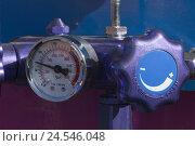 Купить «Pressure control valve for liquids in of a truck,», фото № 24546048, снято 23 июня 2010 г. (c) mauritius images / Фотобанк Лори