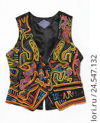 Купить «Waistcoat, pattern, colourful,», фото № 24547132, снято 26 июня 2019 г. (c) mauritius images / Фотобанк Лори