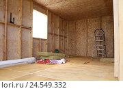 Строительство каркасного дома своими руками. Стоковое фото, фотограф Ирина Горбачева / Фотобанк Лори