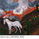 Купить «Horse, illustration, child subscription,», иллюстрация № 24553316 (c) mauritius images / Фотобанк Лори