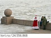 Купить «На набережной Невы. Санкт-Петербург», эксклюзивное фото № 24556868, снято 14 декабря 2013 г. (c) Александр Алексеев / Фотобанк Лори