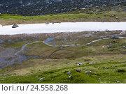 Купить «Switzerland, Graubuenden, Prättigau, cloister, St. Antönien, thaw,», фото № 24558268, снято 23 июля 2008 г. (c) mauritius images / Фотобанк Лори