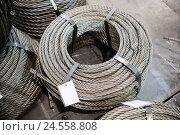 Катушка стального кабеля. Стоковое фото, фотограф Андрей Радченко / Фотобанк Лори