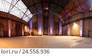 Купить «Power station Berlin-Rummelsburg, indoors, panoramic format,», фото № 24558936, снято 20 июля 2018 г. (c) mauritius images / Фотобанк Лори