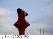 Купить «Spain, Barcelona, telescope, view, environment, Adria de Besos, industrial plant, smokestacks, smoke, cloudy sky,», фото № 24572160, снято 22 сентября 2018 г. (c) mauritius images / Фотобанк Лори