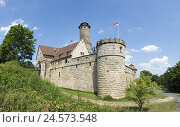 Купить «Germany, Bavaria, Bamberg, Altenburg, outside, Franconia, Upper Franconia, height castle, castle, castle grounds, in 1109, Middle Ages, round tower, castle...», фото № 24573548, снято 23 октября 2008 г. (c) mauritius images / Фотобанк Лори
