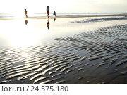 Купить «Italy, Emilia-Romagna, Adriatic, Riccione, beach, stroller, evening light,», фото № 24575180, снято 22 октября 2008 г. (c) mauritius images / Фотобанк Лори